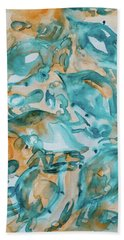 Blue Crabs Together Beach Towel
