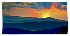 Blue Ridge Mountains Sunset Beach Towel