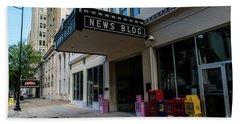 Broad Street Downtown Augusta Ga Beach Towel