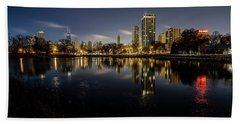 Chicago Skyline At Dawn  Beach Towel