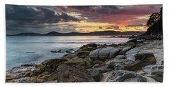 Colours Of A Stormy Sunrise Seascape Beach Sheet