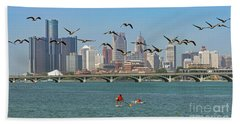 Detroit River Beach Towel