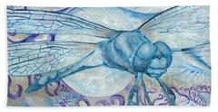 Dragonfly Moon Beach Towel