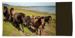 Icelandic Horses Beach Sheet