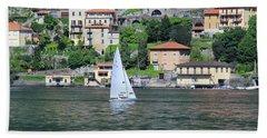 Lake Como Italy Beach Towel
