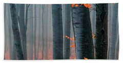 Orange Wood Beach Sheet