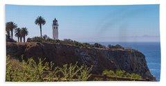 Point Vicente Lighthouse Beach Towel
