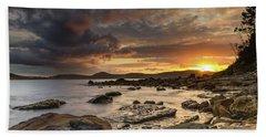Stormy Sunrise Seascape Beach Towel
