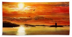 Sunset Lake Beach Towel