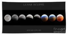 Super Blood Wolf Moon Beach Towel