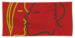 The Kiss Beach Towel