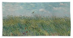 Wheatfield With Partridge Beach Towel