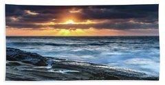 A Moody Sunrise Seascape Beach Sheet