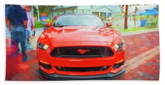 2016 Ford Mustang Petty's Garage 004 Beach Towel