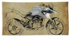 2017 Bmw G310gs Color And Black Lines Artwork Beach Towel