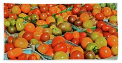 2019 Farmers' Market Spring Green Cherry Tomatoes Beach Towel