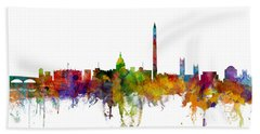 Washington Dc Skyline Beach Towel