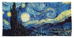 Starry Night By Van Gogh Beach Towel