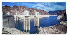Beach Towel featuring the photograph Wandering Around Hoover Dam On Lake Mead In Nevada And Arizona by Alex Grichenko