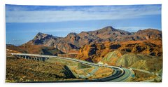 Beach Towel featuring the photograph Red Rock Canyon Landscape Near Las Vegas Nevada by Alex Grichenko