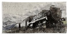 2816 At Banff Siding Beach Towel