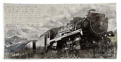 Beach Towel featuring the photograph 2816 At Banff Siding by Brad Allen Fine Art