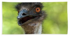 Beach Towel featuring the photograph Australian Emu Outdoors by Rob D Imagery
