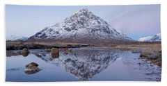 Beach Towel featuring the photograph Dawn In Glencoe by Stephen Taylor