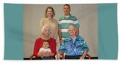 Family Portrait  Beach Towel