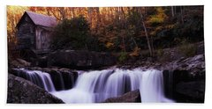 Beach Towel featuring the photograph Glade Creek Grist Mill  by Pete Federico