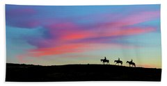 Beach Towel featuring the photograph 3 Horsemen by John Rodrigues