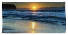 Sunrise Lights Up The Sea Beach Towel