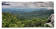 Beach Towel featuring the photograph Rough Ridge Overlook Viewing Area Off Blue Ridge Parkway Scenery by Alex Grichenko