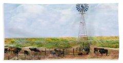 Classic Cattle  Beach Towel