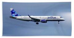 Jetblue Airways Embraer Erj-190ar Beach Towel