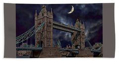 London Tower Bridge Beach Towel