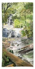 Set Rock Creek Falls Beach Towel