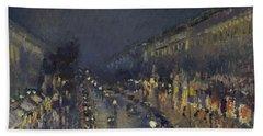 The Boulevard Montmartre At Night Beach Sheet