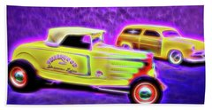 32 Roadster And 49 Woody Beach Towel