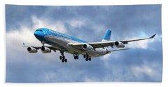 Aerolineas Argentinas Airbus A340-313 Beach Towel