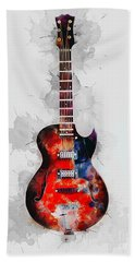 Electric Guitar Beach Towel