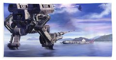 501st Mech Defender Beach Towel