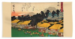 53 Stations Of The Tokaido - Hamamatsu #2 Beach Towel