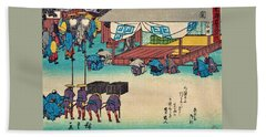 53 Stations Of The Tokaido - Seki Beach Towel