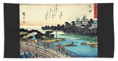 53 Stations Of The Tokaido - Yoshida Beach Towel