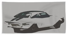 Chevrolet Chevelle Ss Coupe Abstract Design Beach Towel