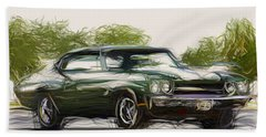 Chevrolet Chevelle Ss Coupe Draw Beach Towel