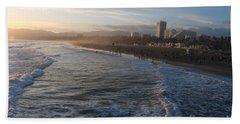 Pacific Sunset , Santa Monica, California Beach Towel