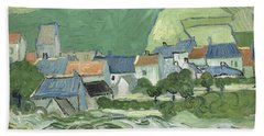 View Of Auvers Beach Towel