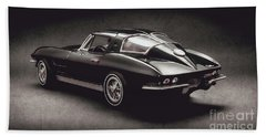 63 Chevrolet Corvette Stingray Beach Towel